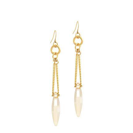 Pretty yellow gold drop earrings