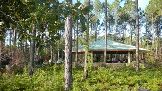 Pavilion (Located at Conservation Park) Great for picnics and family reunions  Seating for approximately 60 people Available for rent from 8am-5pm  Rate: $100 plus tax  There are no open flames allowed at Conservation Park  Please call 850-233-5045 to check availability