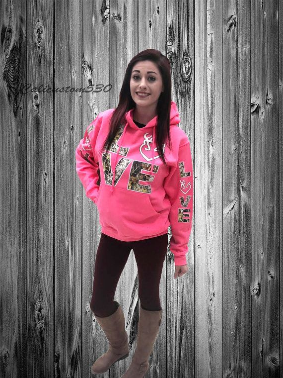 Pink & Camo Love Country Hoodie by calicustom530 on Etsy