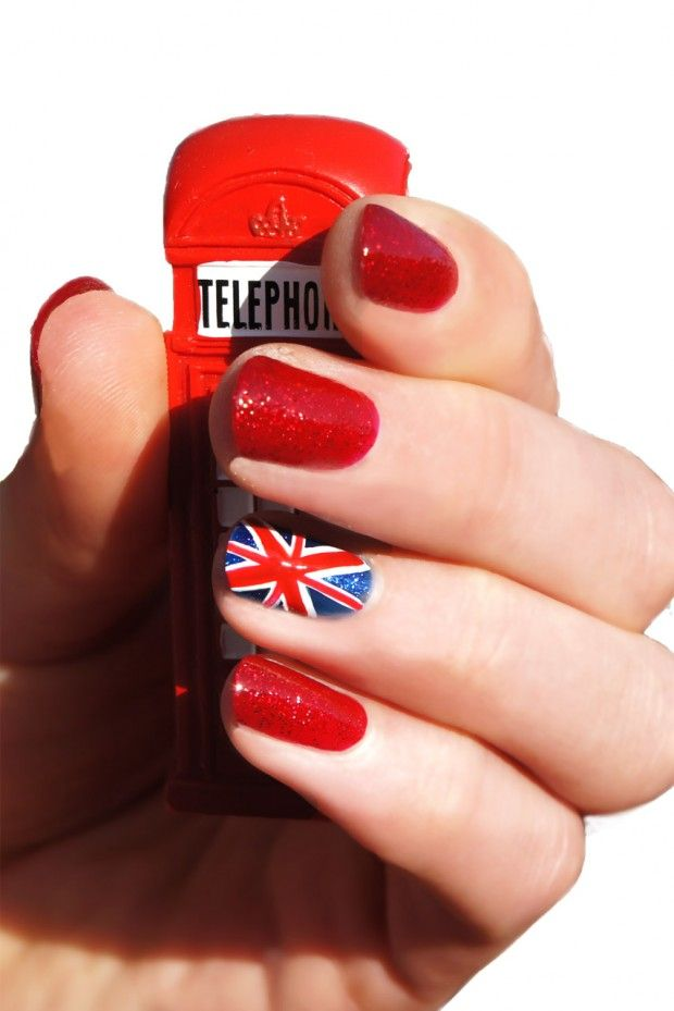 Royal baby celebration nail art #british