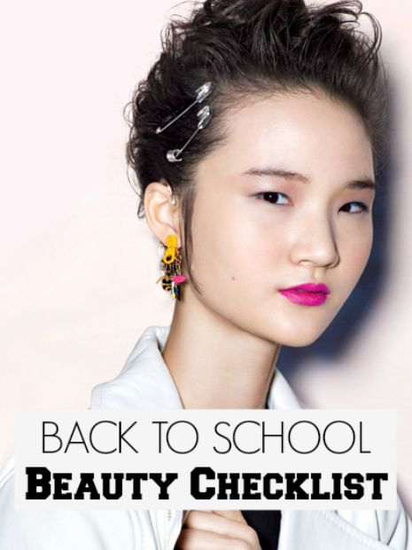 back to school beauty checklist