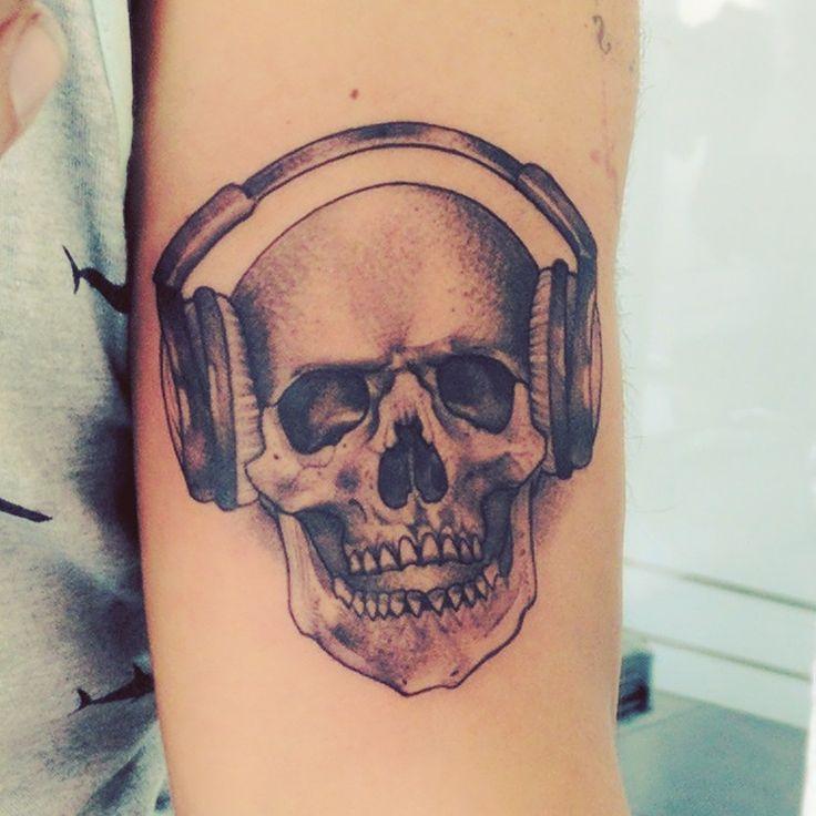 Skull Tattoo Skull Headphones Tattoo