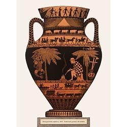 'Bilingual Belly Amphora, 1867, Titokowaru Ponders the Embers' by Marian Maguire