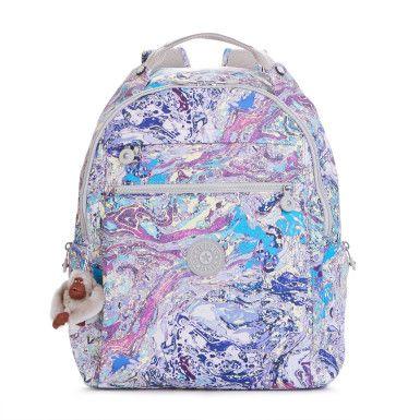 Micah Printed Laptop Backpack - Marble Multi