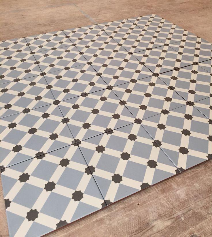 Fired Earth Hevin Glazed Patisserie Floor Tiles 20cm x 20cm 0.8cm