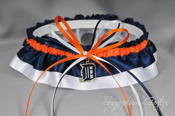 Detroit Tigers Wedding Garter. $31.99, via Etsy.