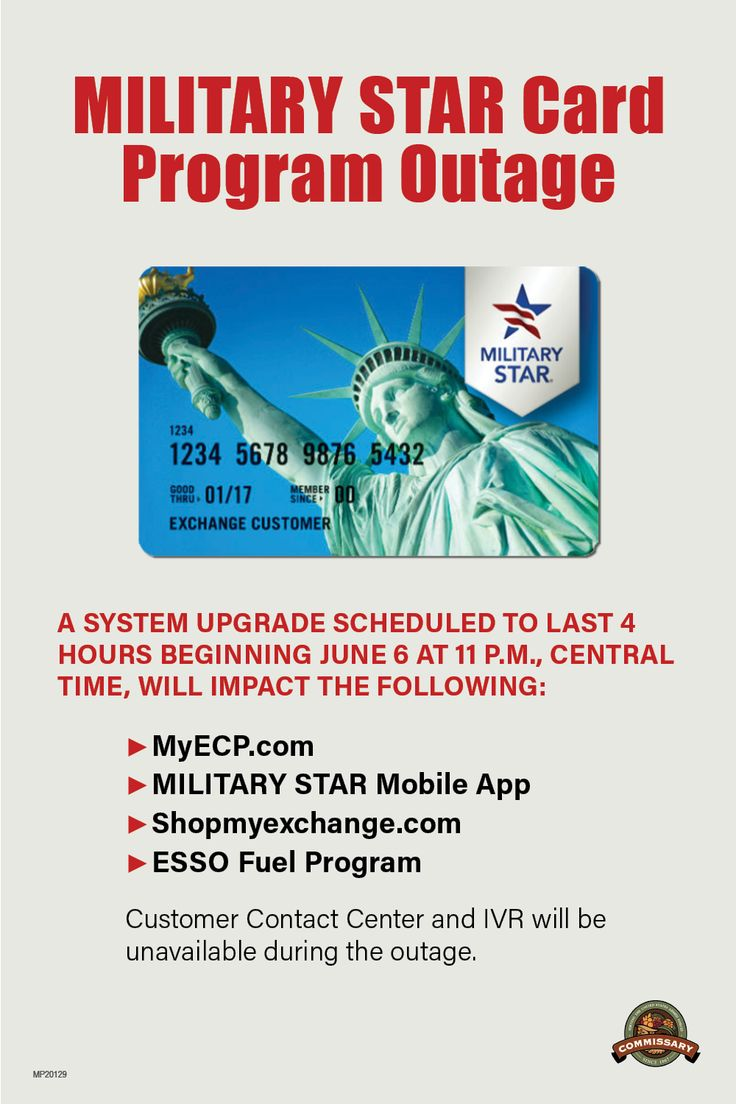 Military Star Card   Program Outage   Military star, Star mobile ...