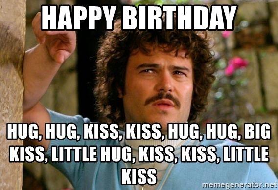 Happy Birthday Hug Hug Kiss Kiss Hug Hug Big Kiss Little