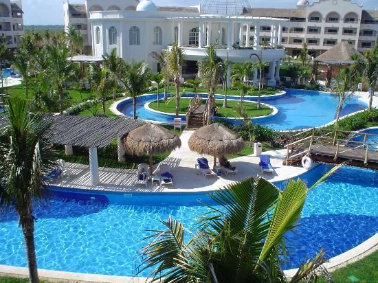 Excellence Riviera Cancun View From Our Balcony Building 6 With Spa Pool