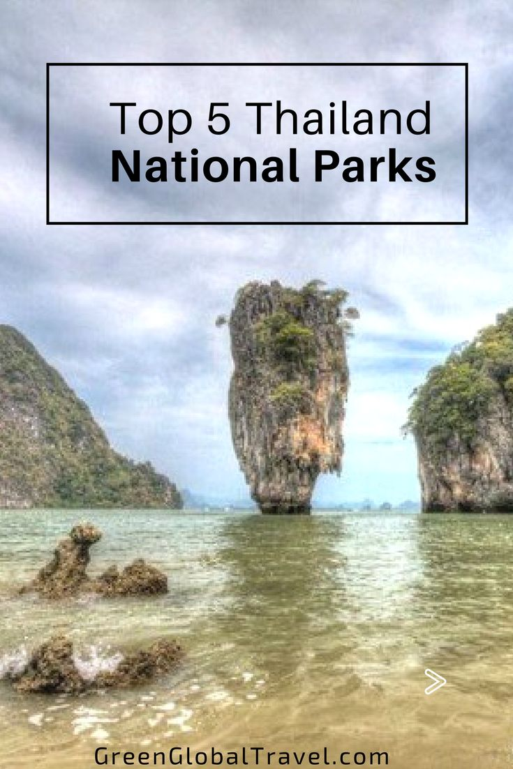 Climb Thailand's highest mountain at the Doi Inthanon National Park, meet wild elephants in the Khao Yai National Park, and visit James Bond scenery in Phang-Nga Bay! | Thailand nature | Thailand national park | Thailand ecotourism | Thailand travel | Thailand eco | Thailand beaches - @greenglobaltrvl