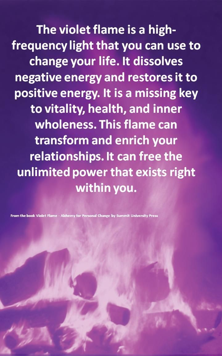 The Violet Flame Is A High Frequency Light That You Can Use To Change Your Life It Dissolves Negative Energy Healing Light Energy Healing Reiki Energy Healing