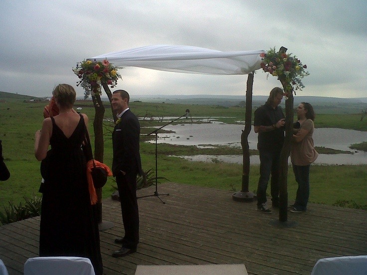 A game reserve wedding