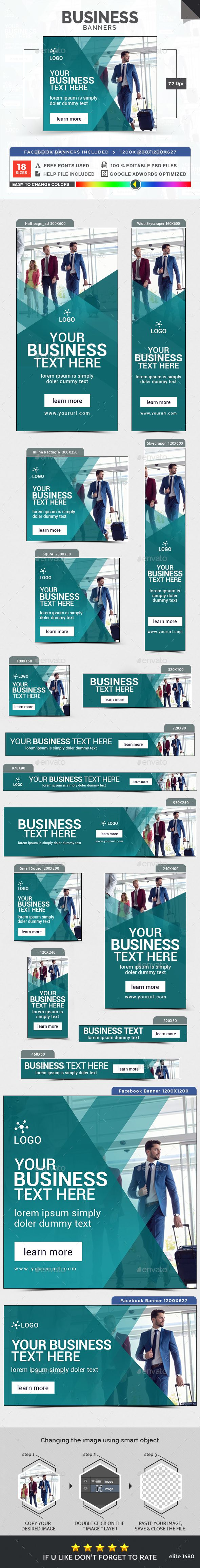 Business Banners Template PSD. Download here: http://graphicriver.net/item/business-banners/16092272?ref=ksioks