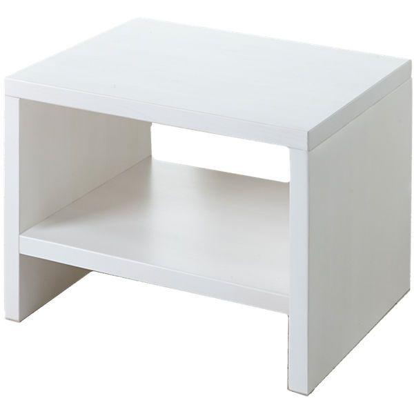 Ideal Der Nachttisch von TICAA aus massivem Kiefernholz verf gt ber offenes Fach und eine gro e Ablagefl che