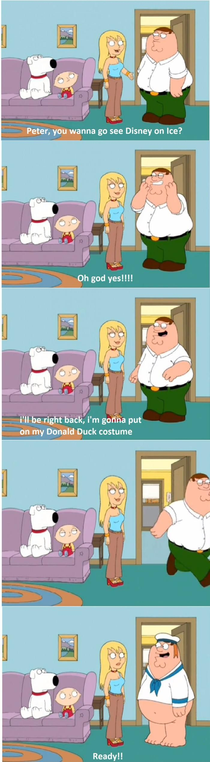 family guy funny peter stewie brian donald duck That s scarily accurate