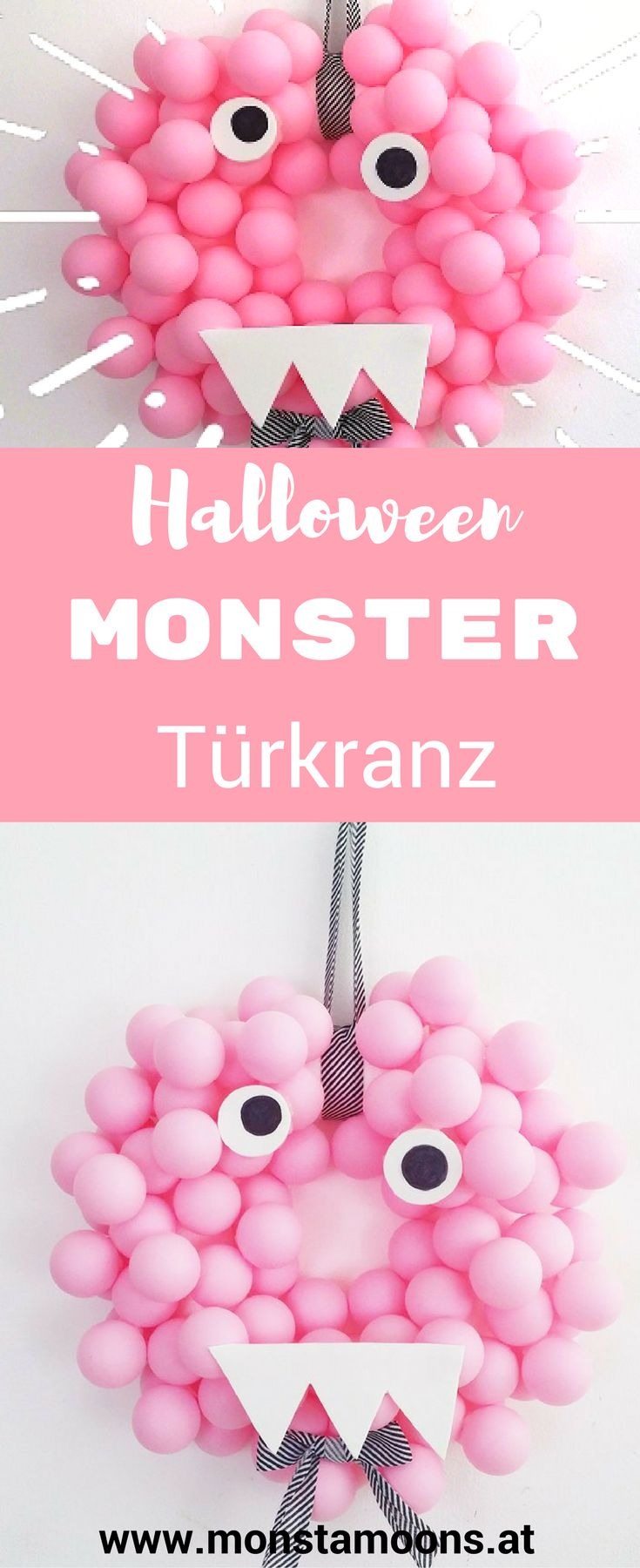 Türkranz für Halloween, Monster Türkranz, Türkranz für Kinder, Halloween Bastelideen, Halloween crafts, monster crafts, Monster basteln