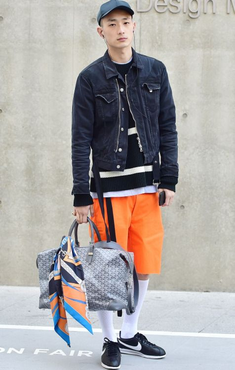 Street style: Park Sung Jin at Seoul Fashion Week Fall 2015 shot by Baek Seung Won