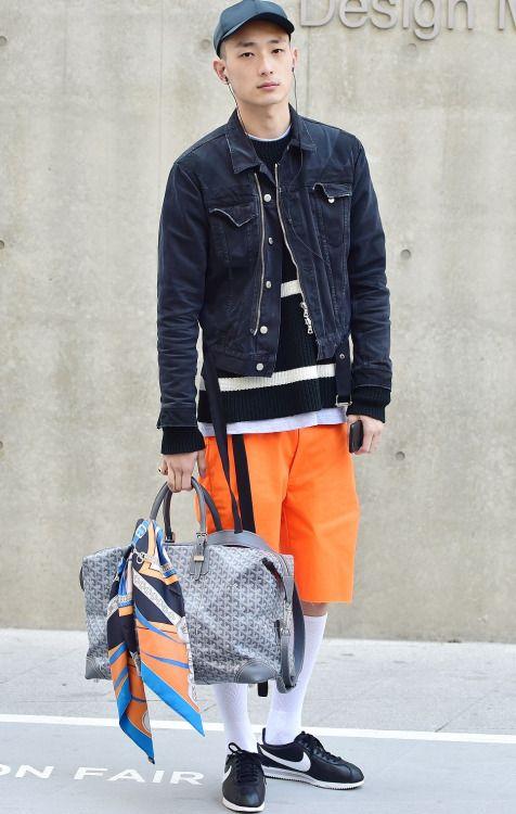 Street style: Park Sung Jin at Seoul Fashion Week Fall 2015 shot by Baek Seung Won