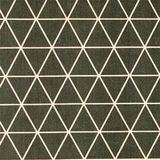 Bomuld mørk grå m pudder trekanter