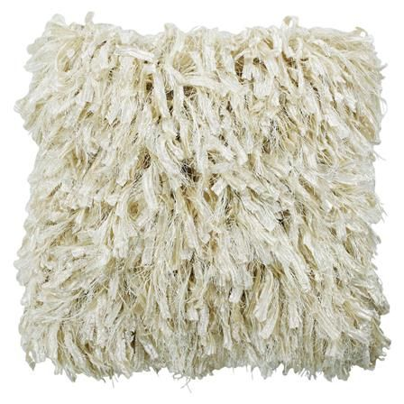 Shaggy Cushion with Pad in Cream | ACHICA