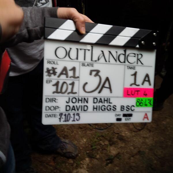 The OUTLANDER TV series began filming in Scotland on October 7, 2013.