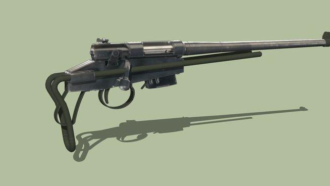 Large preview of 3D Model of U.S. M4 Rifle de Supervivencia
