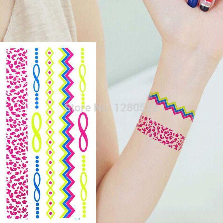 2 лист(ов) поддельные рука втулки цепи временные красочные татуировки наклейки вырос леопарда картины Tatuagem Temporaria Tatuajes Metalicos