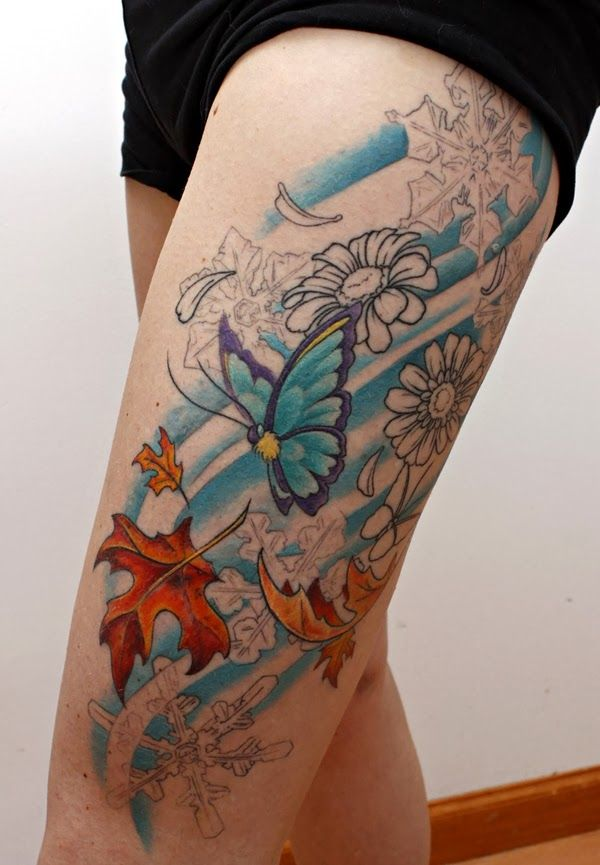 Top 25 ideas about tattoos on pinterest tattoo roses for Sexy thigh tattoo