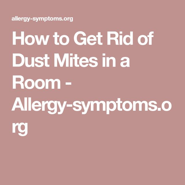 How to Get Rid of Dust Mites in a Room - Allergy-symptoms.org