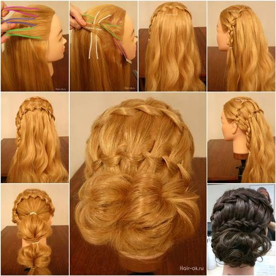 How to DIY Double Waterfall Braided Bun Hairstyle | iCreativeIdeas.com Like Us on Facebook ==> https://www.facebook.com/icreativeideas