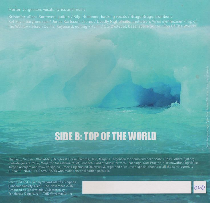 Back cover, vinyl and digital edition.