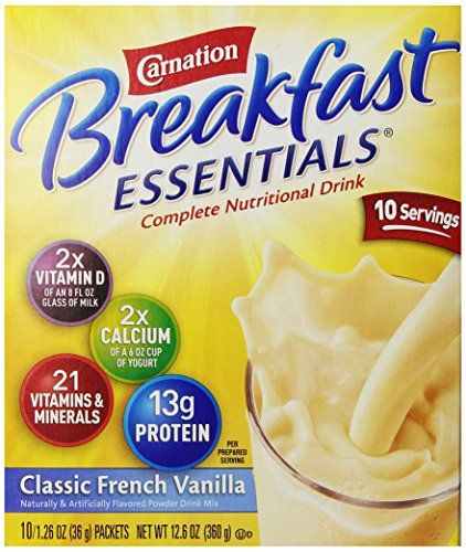 Carnation Breakfast Essentials, Classic French Vanilla, 10 ct, 1.26 oz * Read more reviews of the product by visiting the link on the image.