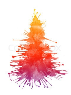 Watercolor Xmas Tree DIY cards