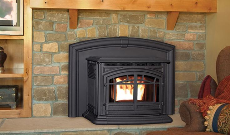 Enviro | Products | Pellet | M55 Cast Iron Fireplace Insert