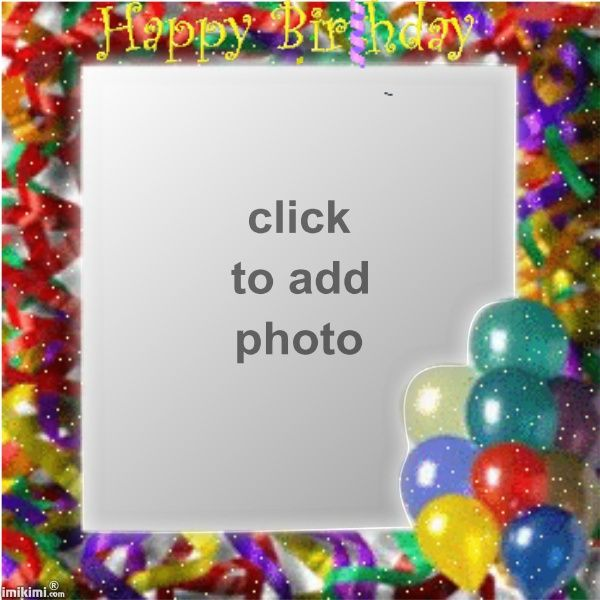 Best 105 Birthday Frames images on Pinterest | Birthday frames ...
