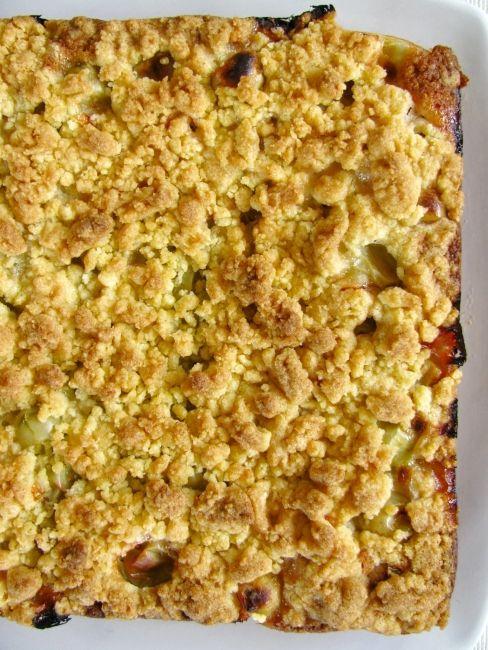 Gooseberry crumble cake...