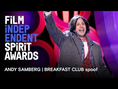 Andy Samberg | Breakfast Club in memoriam tribute | 2018 Film Independent Spirit Awards - Andy Samberg (or is it Judd Nelson?) sings a tribute to all of the actors and independent filmmakers about to be lost... to Hollywood! -- The 2018 Film Independent Spirit Awards, broadcast live on IFC Saturday, March 3rd at 2:00pm PT / 5:00pm ET with hosts Nick Kroll and John Mulaney. | Film Independent