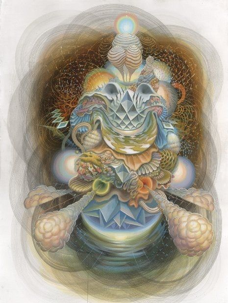 Психоделические рисунки. კოსმოპეიზაჟი