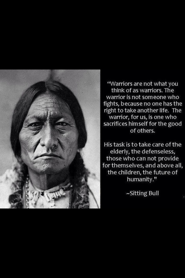 ♥Straight from my great great Uncles lips..Sitting Bill ♥ Indian saying **peace**