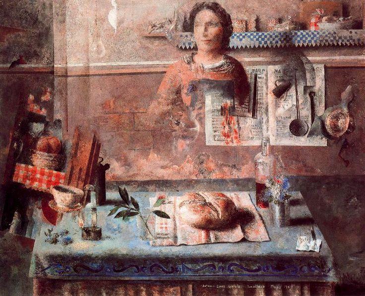 En la cocina. 1958. Obra de Antonio López García