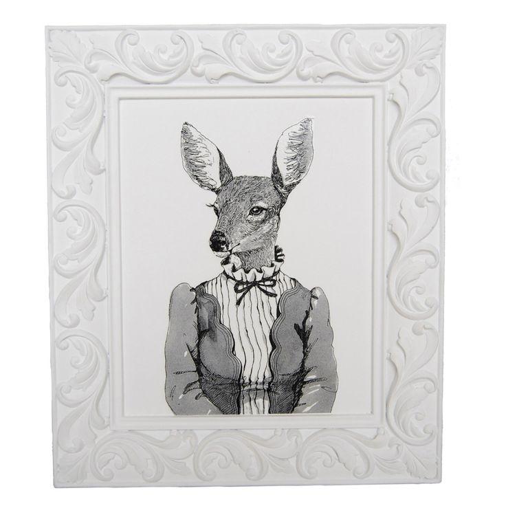 Sagebrook Home Deer Woman Framed Hanging Wall Art - 11194