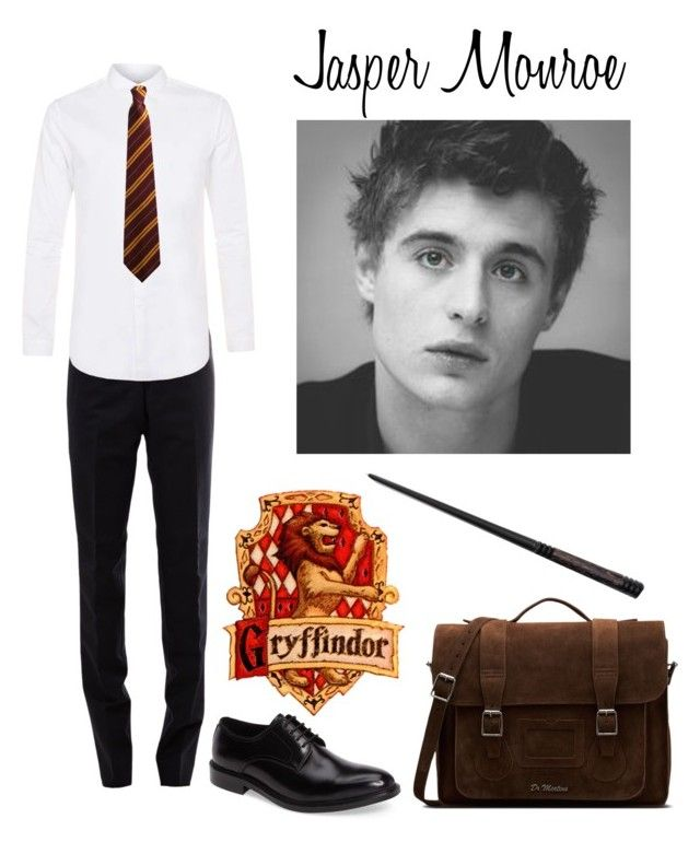 """Jasper Monroe"" by ateliana on Polyvore featuring Thom Browne, Kenneth Cole, Topman, Dr. Martens, men's fashion and menswear"