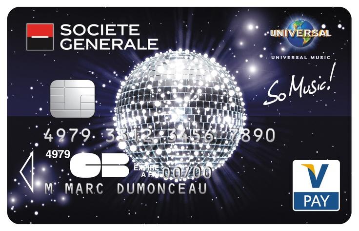Fabuleux Carte Vpay So Music Société Générale. Boule à facettes brillante  PK46