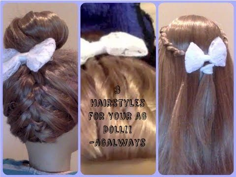 3 Hairstyles for your American Girl Doll ~ Inspired by CGH - YouTube