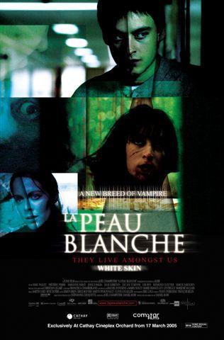"""La peau blanche - Daniel Roby 2004 -- """"Thierry rencontre Claire & il en tombe follement amoureux, même si, normalement, la peau très blanche lui déplaît chez une femme. Malgré les tentatives de Claire pour décourager ses avances, ils sont irrémédiablement attirés l'un vers l'autre. Thierry l'a littéralement dans la peau & son ami, Henri, le voit dépérir. Lorsque Thierry découvre que c'est la sœur de Claire qui a sauvagement attaqué Henri, il réalise qu'il en sait bien peu sur elle..."""""""