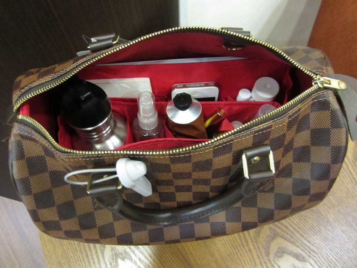 Purse Organizer Insert for Louis Vuitton Speedy 30 Damier Ebene by CloverSac $22.00