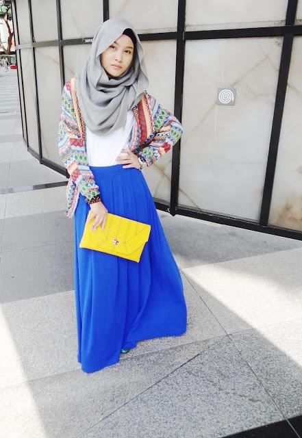 Fatin Atiqah, hijab, neon