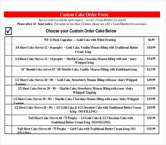 Cake Order Form Template Beautiful 21 Bakery Order Templates Ai Ms Excel Ms Word Wedding Cake Order Form Order Form Template Order Cake