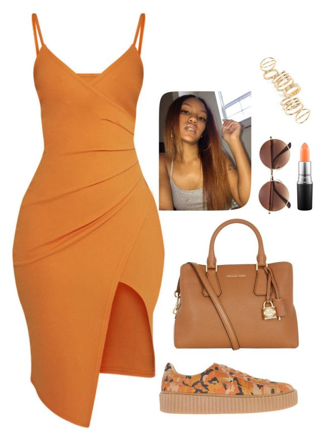 """""""Untitled #384"""" by nun-for-free ❤ liked on Polyvore featuring Pretty Little Thing, MICHAEL Michael Kors, Puma, MAC Cosmetics and BP."""