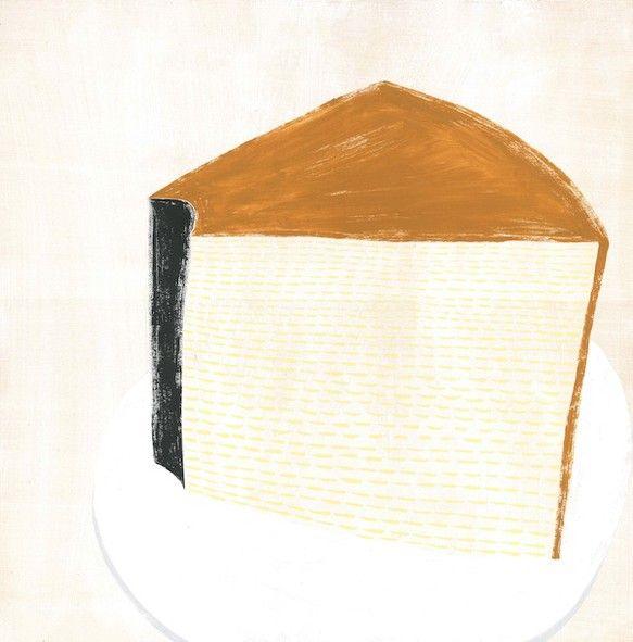 ふわふわスポンジのプレーンなシフォンケーキを描きました。  -------------------------------------------------... ハンドメイド、手作り、手仕事品の通販・販売・購入ならCreema。